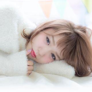 秋 大人かわいい フェミニン ミディアム ヘアスタイルや髪型の写真・画像