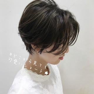 大人ショート ミニボブ ショートボブ ショート ヘアスタイルや髪型の写真・画像
