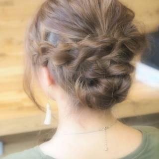 ロング フィッシュボーン ストリート 編み込み ヘアスタイルや髪型の写真・画像