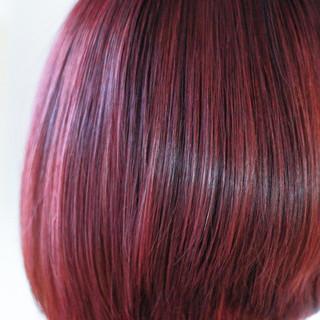 カッパー ピンク ボブ 女子力 ヘアスタイルや髪型の写真・画像