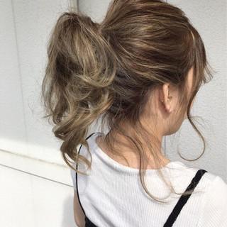 ヘアアレンジ 色気 ポニーテール ミディアム ヘアスタイルや髪型の写真・画像 ヘアスタイルや髪型の写真・画像