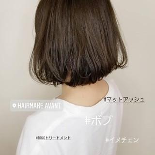 切りっぱなしボブ イメチェン デート TOKIOトリートメント ヘアスタイルや髪型の写真・画像