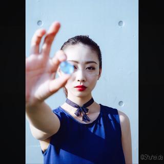 ミディアム アンニュイ 暗髪 モード ヘアスタイルや髪型の写真・画像