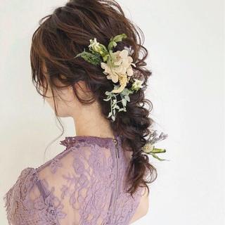 アンニュイ ゆるふわ ロング フェミニン ヘアスタイルや髪型の写真・画像