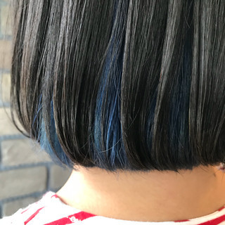 ヘアアレンジ ダブルカラー ボブ 夏 ヘアスタイルや髪型の写真・画像