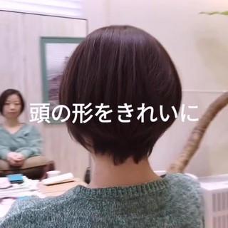 前下がり 大人かわいい ショートヘア ショート ヘアスタイルや髪型の写真・画像