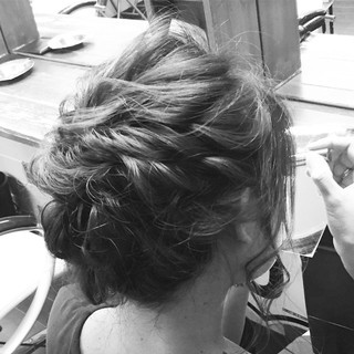 外国人風 ヘアアレンジ アップスタイル ショート ヘアスタイルや髪型の写真・画像 ヘアスタイルや髪型の写真・画像