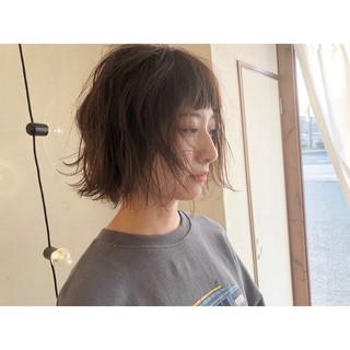 ミルクティーベージュ ショートボブ ナチュラル ショートヘア ヘアスタイルや髪型の写真・画像