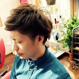ボーイッシュ 刈り上げ ゆるふわ パーマ ヘアスタイルや髪型の写真・画像