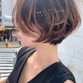 エレガント デート ショートヘア ショート ヘアスタイルや髪型の写真・画像