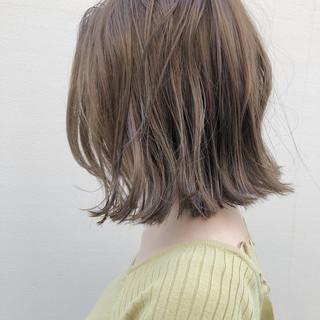 モード 切りっぱなし ボブ ストリート ヘアスタイルや髪型の写真・画像