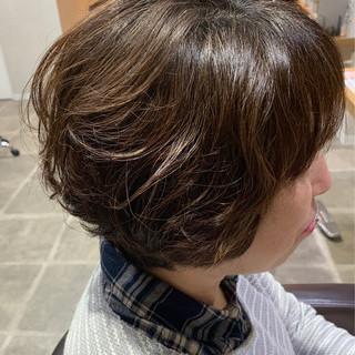 ショート エレガント 大人女子 暗髪 ヘアスタイルや髪型の写真・画像