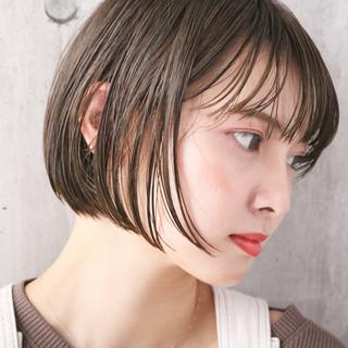 ミニボブ 外国人風カラー ナチュラル 透明感カラー ヘアスタイルや髪型の写真・画像