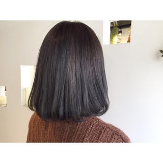 色気 ブルー 暗髪 ブルージュ ヘアスタイルや髪型の写真・画像
