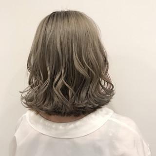 切りっぱなし フェミニン ボブ ゆるふわ ヘアスタイルや髪型の写真・画像