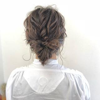 外国人風 セミロング ヘアアレンジ ナチュラル ヘアスタイルや髪型の写真・画像