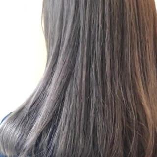 ラベンダーグレージュ ダブルカラー ミルクティーグレージュ ラベージュ ヘアスタイルや髪型の写真・画像