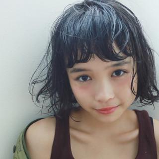 外国人風 ゆるふわ 前髪パーマ ショート ヘアスタイルや髪型の写真・画像