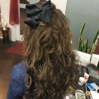 ナチュラル ヘアアレンジ ロング ハーフアップ ヘアスタイルや髪型の写真・画像 ヘアスタイルや髪型の写真・画像