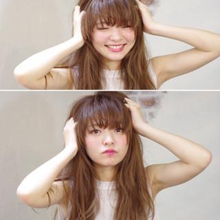 ロング 大人かわいい パーマ ピュア ヘアスタイルや髪型の写真・画像