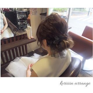 結婚式 パーティ 編み込み ヘアアレンジ ヘアスタイルや髪型の写真・画像