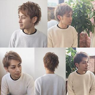 メンズ ショート モテ髪 無造作 ヘアスタイルや髪型の写真・画像