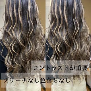 ギャル グラデーションカラー ロング ストリート ヘアスタイルや髪型の写真・画像
