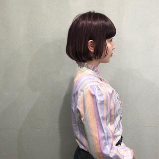ナチュラル 簡単スタイリング ミニボブ まとまるボブ ヘアスタイルや髪型の写真・画像
