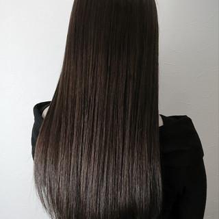 モード ストレート 大人女子 ロング ヘアスタイルや髪型の写真・画像