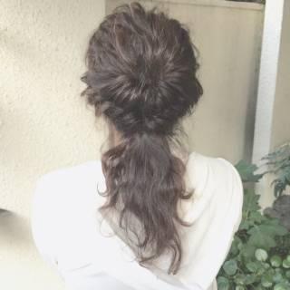 セミロング 波ウェーブ フェミニン ゆるふわ ヘアスタイルや髪型の写真・画像