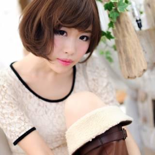 大人かわいい 愛され 秋 ショート ヘアスタイルや髪型の写真・画像