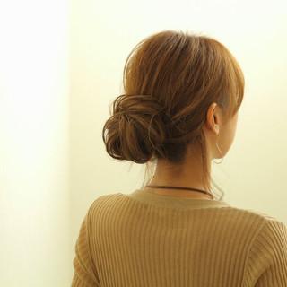 前髪あり 大人女子 こなれ感 簡単ヘアアレンジ ヘアスタイルや髪型の写真・画像