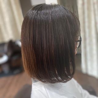 デジタルパーマ 髪質改善トリートメント エレガント 切りっぱなしボブ ヘアスタイルや髪型の写真・画像