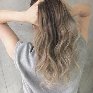 夏 グラデーションカラー エレガント ハイライト ヘアスタイルや髪型の写真・画像