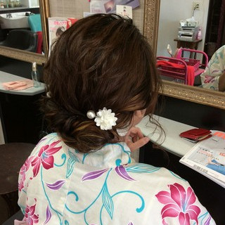 ヘアアレンジ ナチュラル ミディアム 編み込み ヘアスタイルや髪型の写真・画像