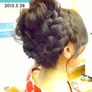ヘアアレンジ お団子 アップスタイル コンサバ ヘアスタイルや髪型の写真・画像