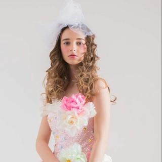 結婚式 ヘアアレンジ 大人かわいい ロング ヘアスタイルや髪型の写真・画像