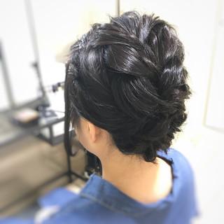 結婚式 フェミニン ヘアアレンジ ショート ヘアスタイルや髪型の写真・画像