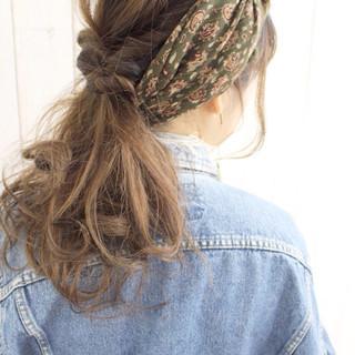 夏 ロング 簡単ヘアアレンジ ヘアアレンジ ヘアスタイルや髪型の写真・画像
