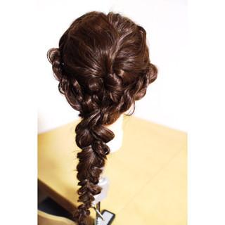 アッシュ セミロング 外国人風 簡単ヘアアレンジ ヘアスタイルや髪型の写真・画像
