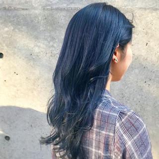 ガーリー ブルーバイオレット ターコイズブルー ブルー ヘアスタイルや髪型の写真・画像