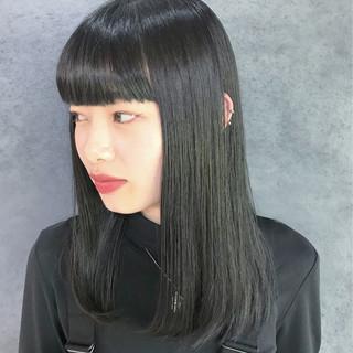ダークトーン ダークグレー ロング ダークカラー ヘアスタイルや髪型の写真・画像