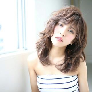 簡単 ミディアム ガーリー かわいい ヘアスタイルや髪型の写真・画像