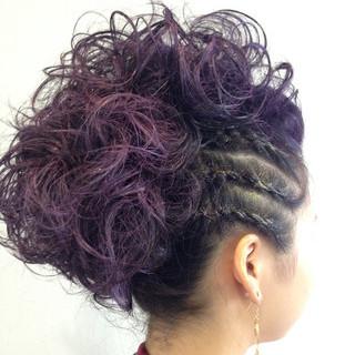 ストリート ロング 編み込み コーンロウ ヘアスタイルや髪型の写真・画像