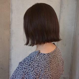 暗髪 切りっぱなし デート ナチュラル ヘアスタイルや髪型の写真・画像 ヘアスタイルや髪型の写真・画像