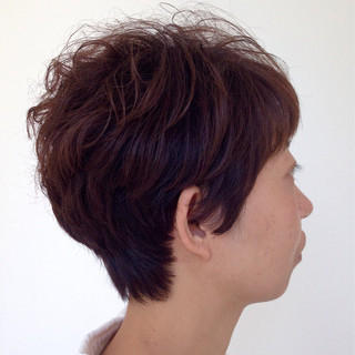 簡単 ナチュラル パーマ くせ毛風 ヘアスタイルや髪型の写真・画像