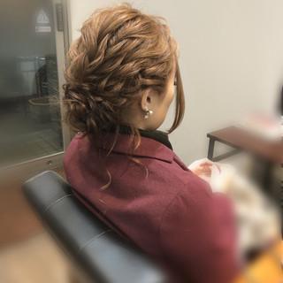 ヘアアレンジ ねじり フェミニン アップ ヘアスタイルや髪型の写真・画像