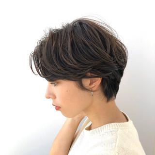 デート 透明感カラー ショートボブ ショートヘア ヘアスタイルや髪型の写真・画像