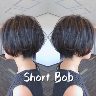 デート 小顔ショート ショートボブ ショートヘア ヘアスタイルや髪型の写真・画像