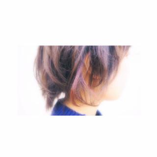 レッド ピンク ストリート 抜け感 ヘアスタイルや髪型の写真・画像